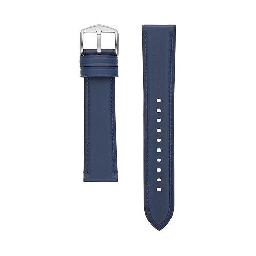 Fossil Men's 22 mm Navy Leather Watch Strap