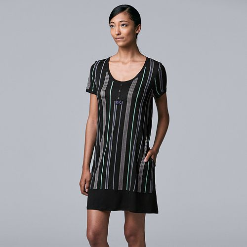 Women's Simply Vera Vera Wang Short Sleeve Sleepshirt