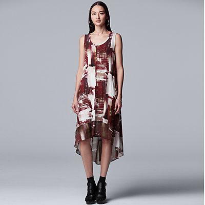 Petite Simply Vera Vera Wang Print High-Low Dress