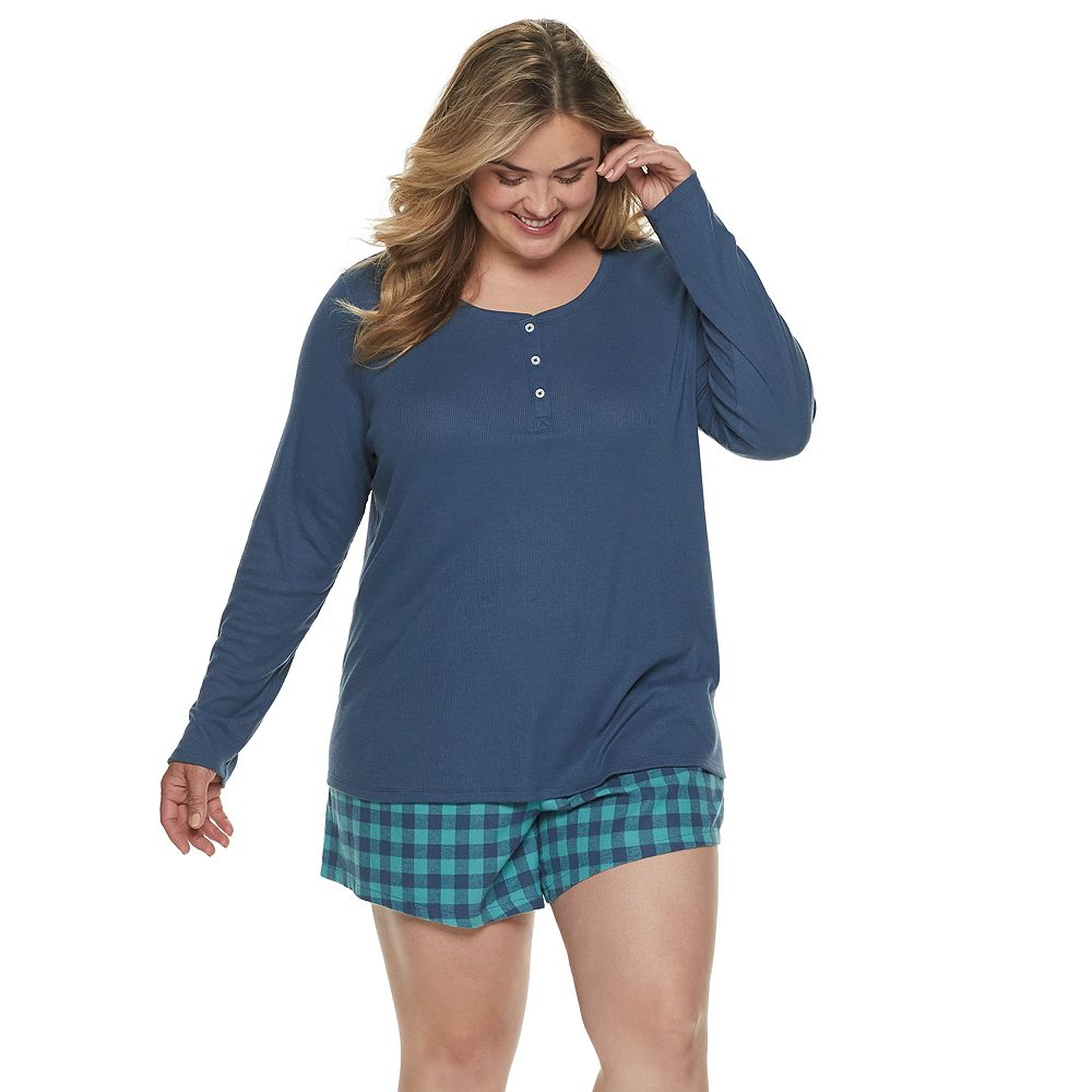 Women's Plus Size SONOMA Goods for Life® Flannel Short Set