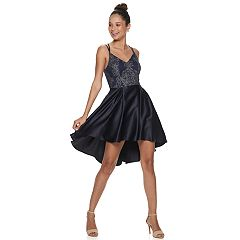 Juniors' Speechless Caviar Beading V-Neck Dress