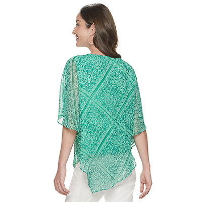 Women's Dana Buchman Asymmetrical Texture Poncho