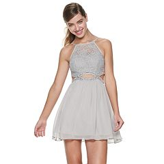 2823f1b9245d Juniors' Speechless Embellished Infinity Waist Skater Dress