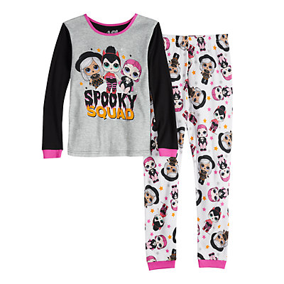 Girls 4-10 L.O.L Surprise! Glow-in-the-Dark Top & Bottom Pajama Set