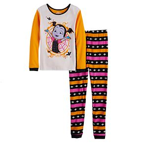 Disney's Vampirina Girls 4-10 Glow-in-the-Dark Top & Bottoms Pajama Set