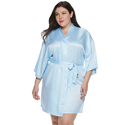 Women's Plus Size Apt. 9® Satin Wrapper
