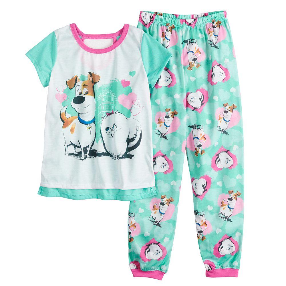 Girls 4-10 Secret Life of Pets Pajama Set