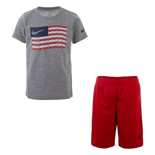 Boys 4-7 Nike Americana Flag Graphic Tee & Shorts Set
