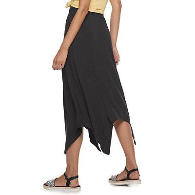 Juniors' SO® Hanky Hem Midi Skirt