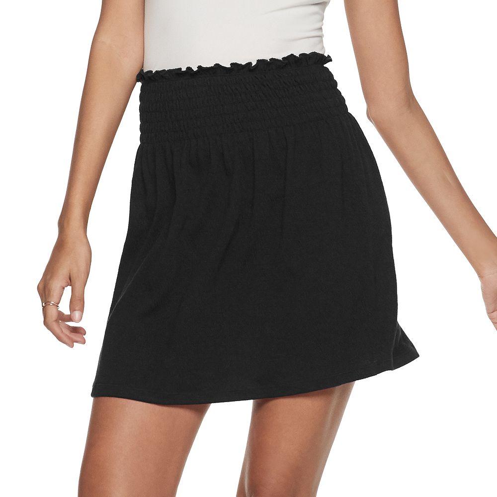 Juniors' SO® Smocked Mini Skirt