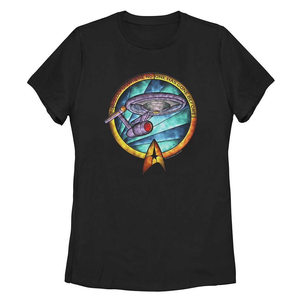 Juniors Star Trek: The Original Series Stained Glass Ship Tee