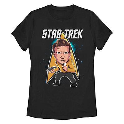 Junior's Star Trek: The Original Series Cartoon Kirk Crew Tee