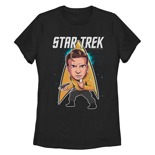 Junior's Star Trek: The Original Series Cartoon Kirk Crew Tee