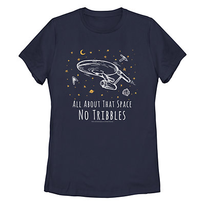 "Junior's Star Trek: The Original Series ""About That Space No Tribbles"" Crew Tee"