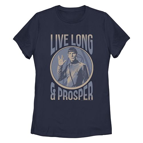 Junior's Star Trek: The Original Series Spock Live Long Portrait Crew Tee