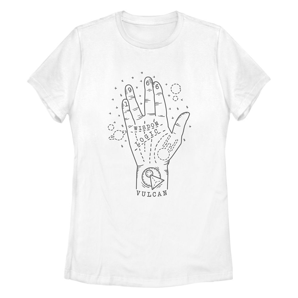 Junior's Star Trek: The Original Series Vulcan Palmistry Missy Crew Tee