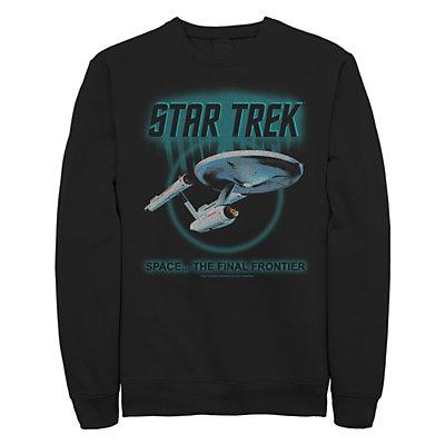 Junior's Star Trek: TheOriginal Series Enterprise Final Frontier Retro Crew Fleece