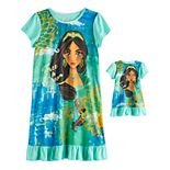 Disney's Jasmine Girls 4-8 Nightgown & Doll Gown