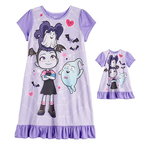 Disney's Vampirina Girls 4-8 Nightgown & Doll Gown