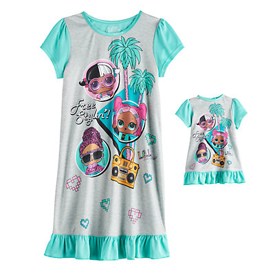 Girls 4-10 L.O.L. Surprise! Nightgown & Doll Gown