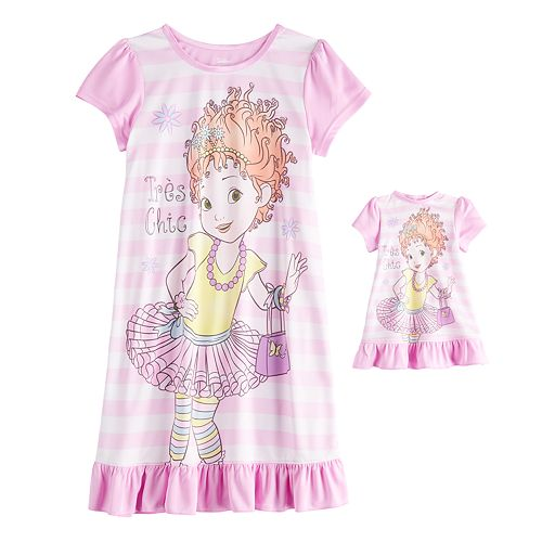 Disney's Fancy Nancy Girls 4-10 Nightgown & Doll Gown