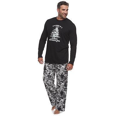 Big & Tall Jammies For Your Families Camo Family Tee & Pants Pajama Set