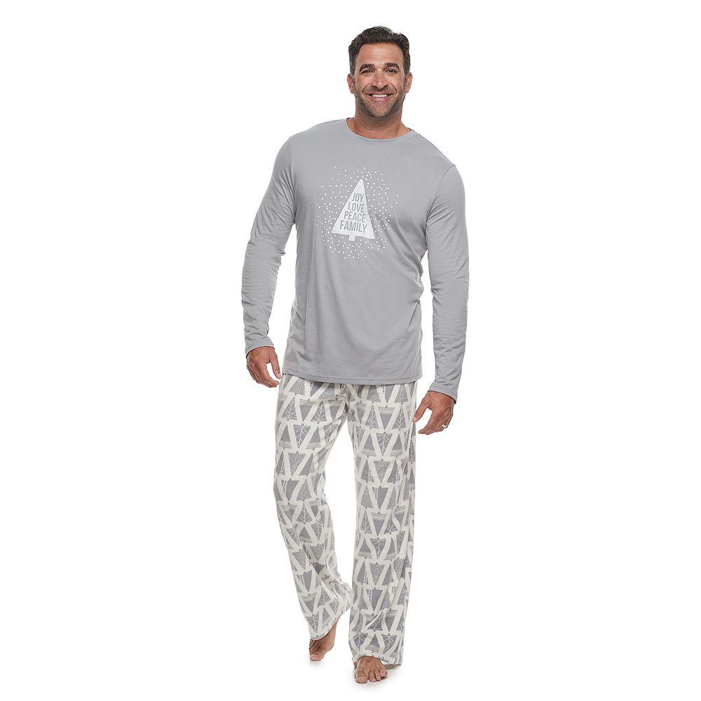 Big & Tall Jammies For Your Families Joy Love Peace Family Tee & Pants Pajama Set