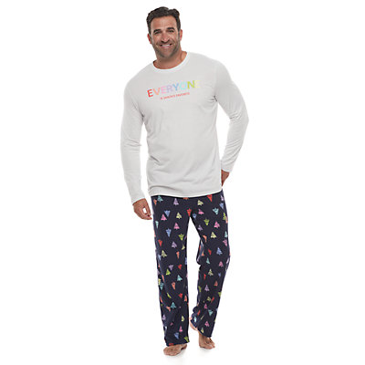 Big & Tall Jammies For Your Families Everyone is Santa's Fave Family Tee & Pants Pajama Set