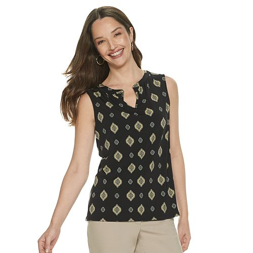 Women's Dana Buchman® Pleated Print Top