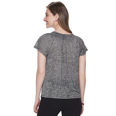 Women's Dana Buchman Short Sleeve Smocked-Neck Tee