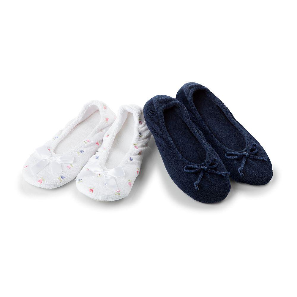 isotoner Women's Set of 2 Ballerina Slippers