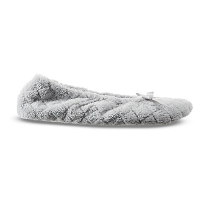 isotoner Women's Set of 2 Microterry Ballerina Slippers