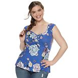 Juniors' Plus Candie's® Ruched Tank Top