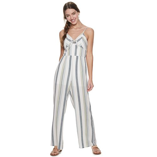 Juniors' Trixxi Bow Front Jumpsuit