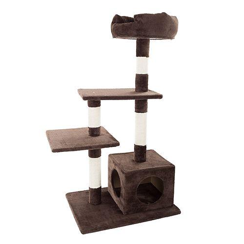 PetMaker 4-Tier Cat Tree with Penthouse Condo