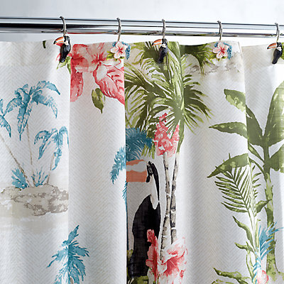 Destinations 12-pack Toucan Shower Curtain Hook Set
