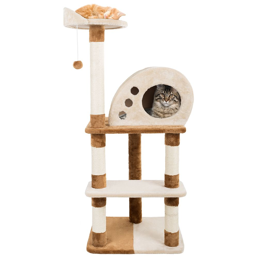 PetMaker 4-Tier Cat Tree with Condo & Hanging Toys