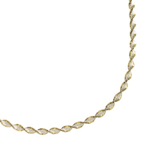 Sterling Silver Two-Tone Twist Chain Necklace - 18-in.
