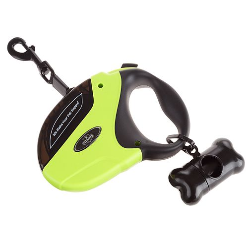 PetMaker Retractable Dog Leash with Waste Bags