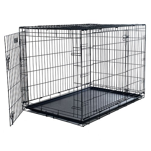 PetMaker 2-Door Foldable Dog Cage