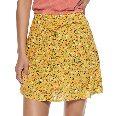 Juniors' SO® Button Front Skirt