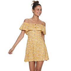 894a9969b Juniors' Speechless Off-the-Shoulder Eyelet Dress