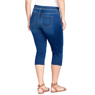 Plus Size Gloria Vanderbilt Avery Pull-On Capri Jeans