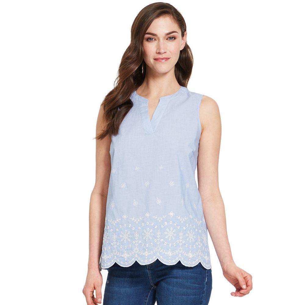 Women's IZOD® Split-neck Ruffle Top