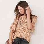 Women's LC Lauren Conrad Smocked Sleeve Tee