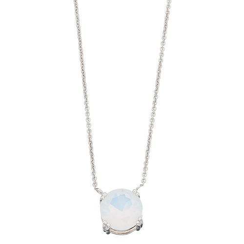 Aleure Sterling Silver Crystal Pendant Necklace