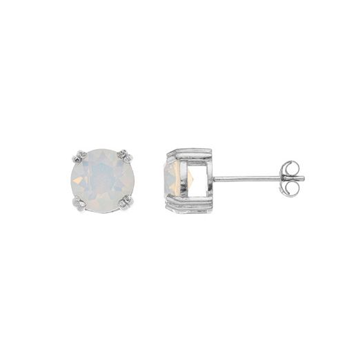 Aleure Sterling Silver Crystal Stud Earrings