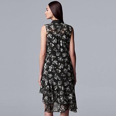 Women's Simply Vera Vera Wang Ruffle Shirt Dress