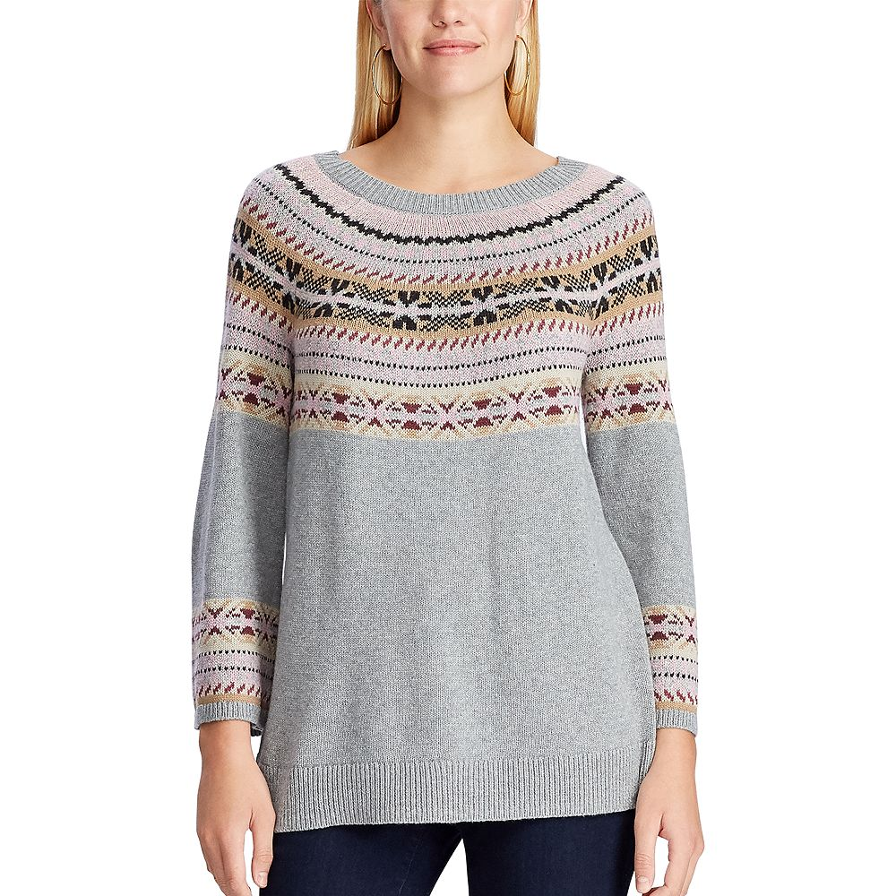 Women's Chaps Fairisle Crewneck Sweater