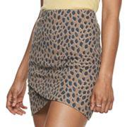 Juniors' SO Mini Wrap Skirt